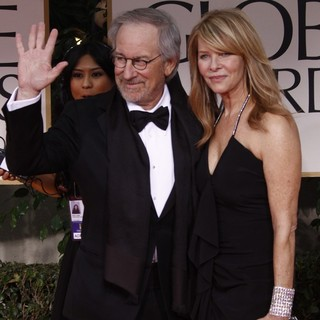 Steven Spielberg, Kate Capshaw in The 69th Annual Golden Globe Awards - Arrivals
