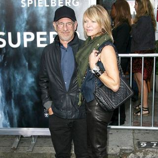 Steven Spielberg, Kate Capshaw in Los Angeles Premiere of Super 8