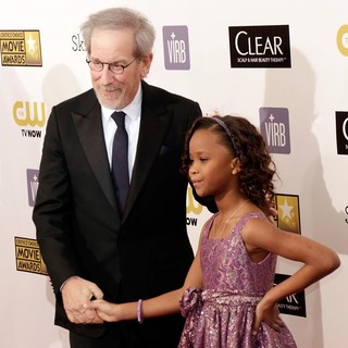 Steven Spielberg, Quvenzhane Wallis in 18th Annual Critics' Choice Movie Awards