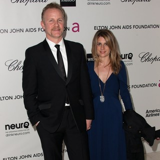 Morgan Spurlock, Alexandra Jamieson in The 20th Annual Elton John AIDS Foundation's Oscar Viewing Party - Arrivals