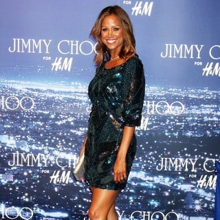 Stacey Dash in The Jimmy Choo for H and M Launch Party