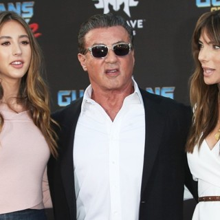 Scarlet Rose Stallone, Sylvester Stallone, Jennifer Flavin in The World Premiere of Marvel Studios' Guardians of the Galaxy Vol. 2