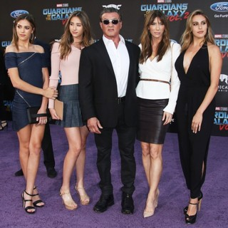 Sistine Stallone, Scarlet Rose Stallone, Sylvester Stallone, Jennifer Flavin, Sophia Rose Stallone in The World Premiere of Marvel Studios' Guardians of the Galaxy Vol. 2