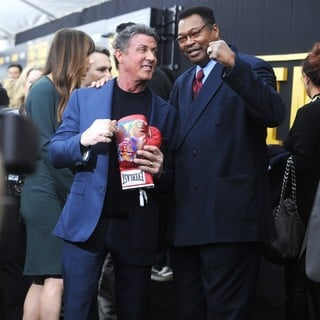 Sylvester Stallone, Larry Holmes in Grudge Match New York Screening - Red Carpet Arrivals