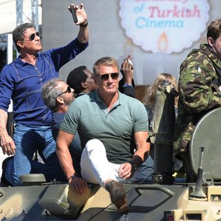Sylvester Stallone, Dolph Lundgren in The 67th Annual Cannes Film Festival - The Expendables 3 - Photocall