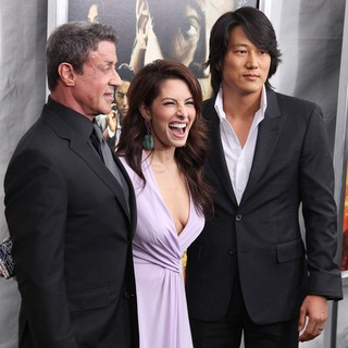 Sylvester Stallone, Sarah Shahi, Sung Kang in New York Premiere of Bullet to the Head