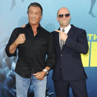 Sylvester Stallone, Jason Statham in Warner Bros. Pictures and Gravity Pictures' Premiere of The Meg