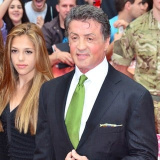 Sistine Rose Stallone, Sylvester Stallone in The Expendables 2 UK Premiere - Arrivals