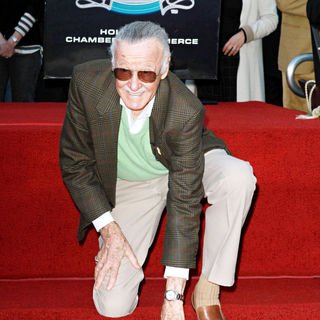 Stan Lee in Stan Lee Hollywood Walk Of Fame Star Induction Ceremony