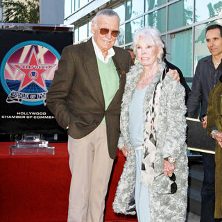 Stan Lee, Joan Lee in Stan Lee Hollywood Walk Of Fame Star Induction Ceremony