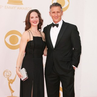 Kim Stanley, Christopher Stanley in 65th Annual Primetime Emmy Awards - Arrivals