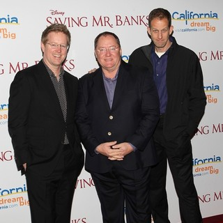 Andrew Stanton, John Lasseter, Pete Docter in Saving Mr. Banks Los Angeles Premiere