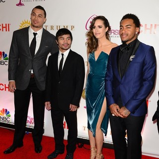 Giancarlo Stanton, Manny Pacquiao, Louise Roe, DeSean Jackson in The 63rd Annual Miss Universe Pageant - Red Carpet Arrivals