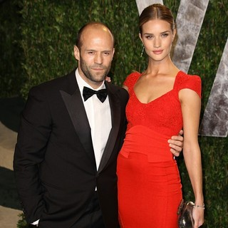 Jason Statham, Rosie Huntington-Whiteley in 2012 Vanity Fair Oscar Party - Arrivals