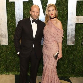 Jason Statham, Rosie Huntington-Whiteley in 2013 Vanity Fair Oscar Party - Arrivals