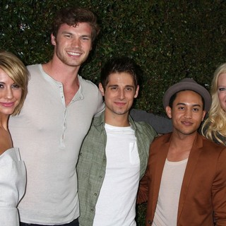 Chelsea Staub, Derek Theler, Jean-Luc Bilodeau, Tahj Mowry, Melissa Peterman in ABC Family West Coast Upfronts Party