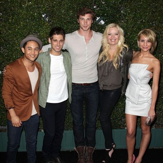 Tahj Mowry, Jean-Luc Bilodeau, Derek Theler, Melissa Peterman, Chelsea Staub in ABC Family West Coast Upfronts Party