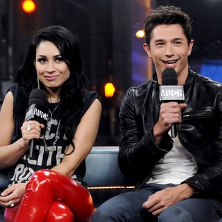 Cassie Steele, Joe Dinicol in Cassie Steele Appears on MuchMusic's New.Music.Live to Promote TV series The L.A. Complex