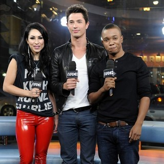Cassie Steele, Joe Dinicol, Benjamin Charles Watson in Cassie Steele Appears on MuchMusic's New.Music.Live to Promote TV series The L.A. Complex