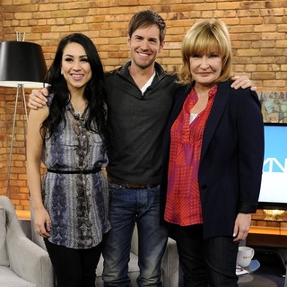 Cassie Steele, Jonathan Patrick Moore, Marilyn Denis in Cassie Steele Appears on The Marilyn Denis Show Promoting TV Series The L.A. Complex