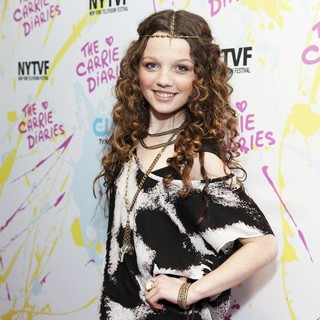 Stefania Owen in The Carrie Diaries Premiere