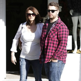 Lisa Stelly, Jack Osbourne in Jack Osbourne and Lisa Stelly Leaving La Scala Ristorante