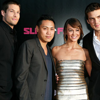 Rick Malambri, Sharni Vinson, Madd Chadd, Jon Chu in World Premiere of 'Step Up 3-D' - Arrivals