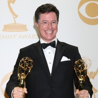 Stephen Colbert in 65th Annual Primetime Emmy Awards - Press Room