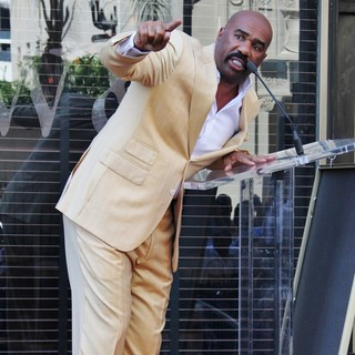Steve Harvey in Steve Harvey Is Honoured with A Star on The Hollywood Walk of Fame