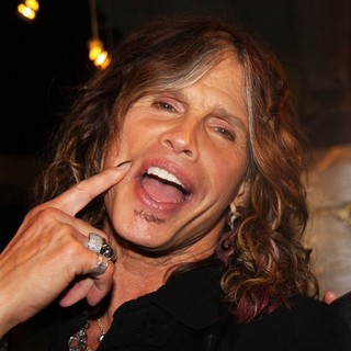 Steven Tyler in Andrew Charles Fashion Line Launch