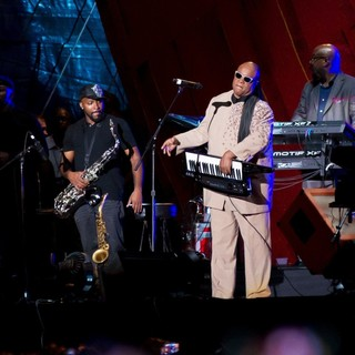 Stevie Wonder in 2013 Global Citizen Festival