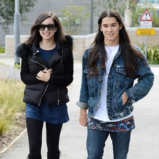 Sofia Carson and Booboo Stewart Spotted Out and About in Media City Manchester