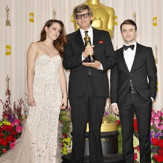 Kristen Stewart, Rick Carter, Daniel Radcliffe in The 85th Annual Oscars - Press Room