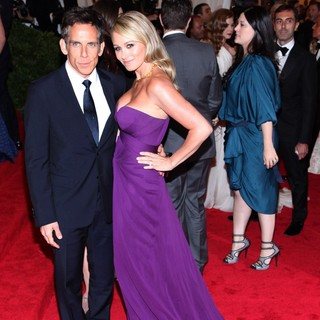 Ben Stiller, Christine Taylor in Schiaparelli and Prada Impossible Conversations Costume Institute Gala