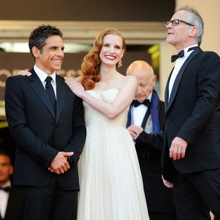Ben Stiller, Jessica Chastain in Madagascar 3: Europe's Most Wanted Premiere- During The 65th Cannes Film Festival