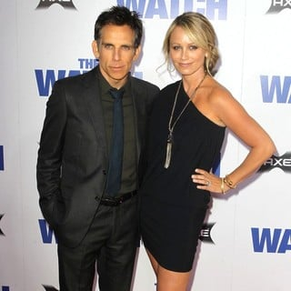 Ben Stiller, Christine Taylor in Los Angeles Premiere of The Watch