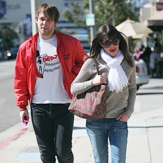 Theo Stockman, Lea Michele in Lea Michele and Theo Stockman Have Lunch at Kings Road Cafe