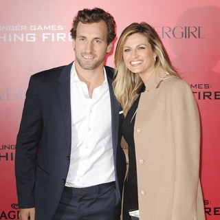 Jarret Stoll, Erin Andrews in The Hunger Games: Catching Fire Premiere