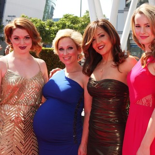 Jennifer Stone, Leigh Allyn Baker, Maria Canals Barrera, Bridgit Mendler in 2012 Creative Arts Emmy Awards - Arrivals