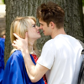 Emma Stone - Kissing Scene on The Set of The Amazing Spider-Man 2