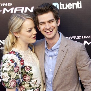Emma Stone, Andrew Garfield in The Spanish Premiere of The Amazing Spider-Man
