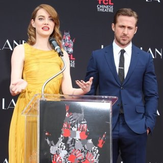 Emma Stone, Ryan Gosling-Ryan Gosling and Emma Stone Hand and Footprint Ceremony