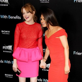 Emma Stone, Mila Kunis in New York Premiere of Friends with Benefits - Arrivals