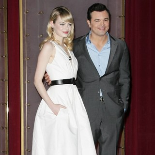 Emma Stone, Seth MacFarlane in The 85th Academy Awards - Nominations Announcement