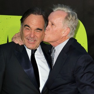 Oliver Stone, James Woods in The Premiere of Savages