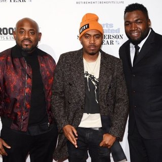 Steve Stoute, Nas, David Ortiz in Sports Illustrated Sportsperson of the Year Ceremony 2016 - Red Carpet Arrivals