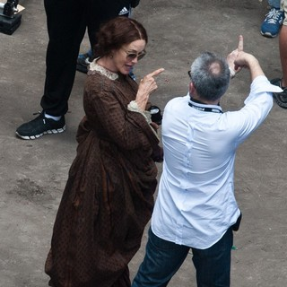 Jessica Lange, Charlie Stratton in Actors on The Set of Therese Raquin Filming on Location