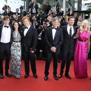 On the Road Premiere - During The 65th Cannes Film Festival - sturridge-riley-stewart-morgan-mortensen-hedlund-dunst-65th-cannes-film-festival-01