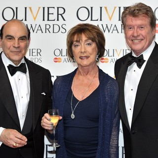 David Suchet, Gillian Lynne, Michael Crawford in The Olivier Awards 2013 - Press Room