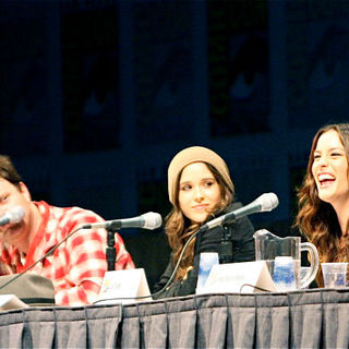 Rainn Wilson, Ellen Page, Liv Tyler, Nathan Fillion in Comic Con 2010 - Day 2 - 'Super' Press Conference